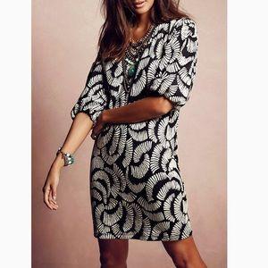 Anthropologie Maeve Windfall Black White Dress